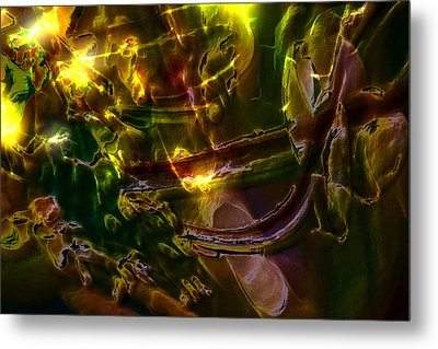 Metal Print featuring the digital art Apocryphal - Tilting From Beastback by Richard Thomas