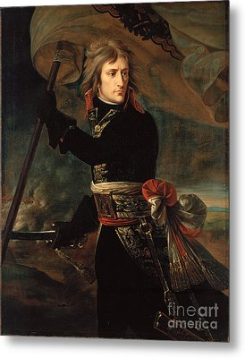 apoleon Bonaparte on the Bridge at Arcole Metal Print by Celestial Images