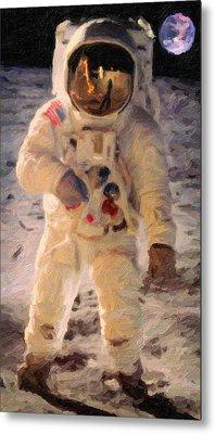 Apollo 11 Astronaut Painting Metal Print