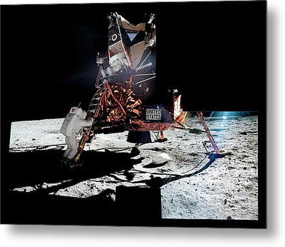 Apollo 11 Moon Landing Metal Print by Nasa/detlev Van Ravenswaay