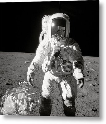 Apollo 12 Moonwalk - 1969 Metal Print