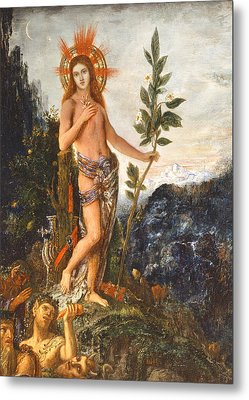 Apollo Receiving The Shepherds Offerings Metal Print by Gustave Moreau