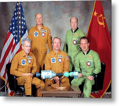 Apollo Soyuz Test Project Crew Metal Print by Nasa