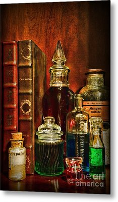 Apothecary - Vintage Jars And Potions Metal Print by Paul Ward
