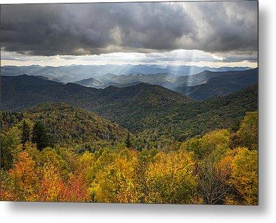 Appalachian Autumn North Carolina Fall Foliage Metal Print by Dave Allen