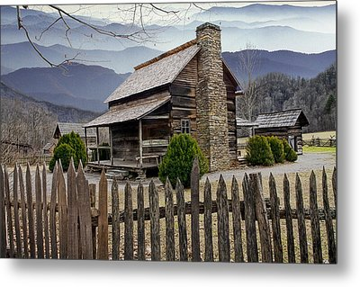 Appalachian Mountain Cabin Metal Print by Randall Nyhof