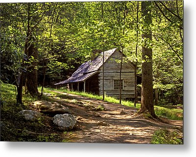 Appalachian Mountain Log Cabin Metal Print by Paul W Faust -  Impressions of Light
