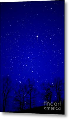 Appalachian Mountain Starry Night Metal Print by Thomas R Fletcher