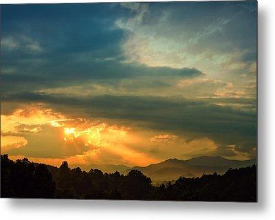 Appalachian Sunset Metal Print by William Schmid
