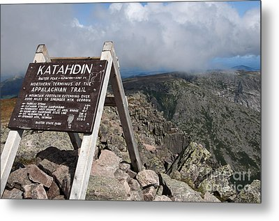 Appalachian Trail Mount Katahdin Metal Print