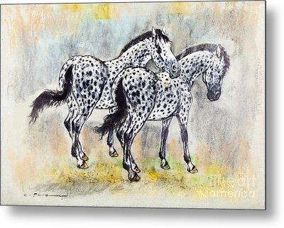 Appaloosa Horses Metal Print by Kurt Tessmann