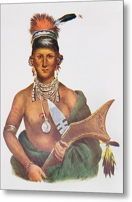 Appanoose, A Sauk Chief, 1837, Illustration From The Indian Tribes Of North America, Vol.2 Metal Print by George Cooke