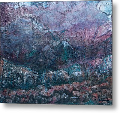Metal Print featuring the mixed media Apparitions by Carla Woody