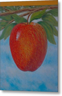 Apple 1 In A Series Of 3 Metal Print by Don Young