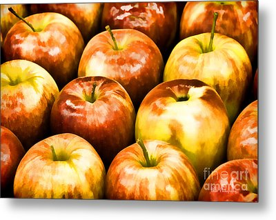 Metal Print featuring the photograph Apple A Day by Linda Blair