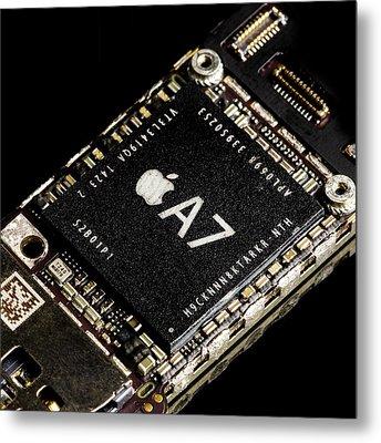 Apple A7 Processor Metal Print