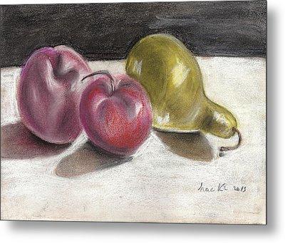 Apple And Pear Metal Print by Hae Kim