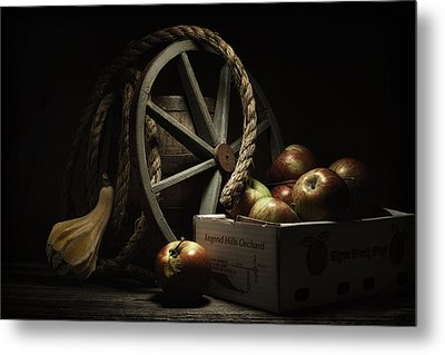 Apple Basket Still Life Metal Print by Tom Mc Nemar