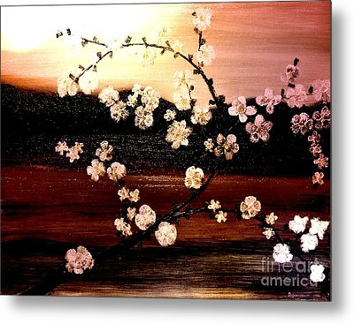 Apple Blossom Time Metal Print by Denise Tomasura