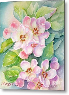 Apple Blossoms 1 Metal Print by Inese Poga