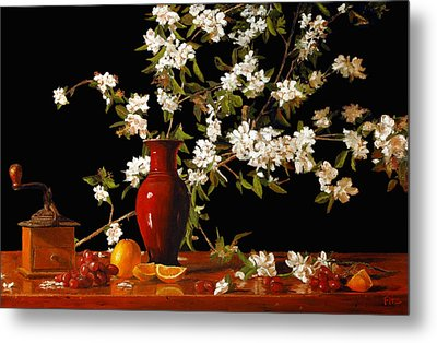 Apple Blossum Time Metal Print