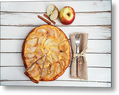 Apple Cake Metal Print
