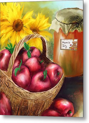 Metal Print featuring the digital art Apple Harvest by Mary Almond