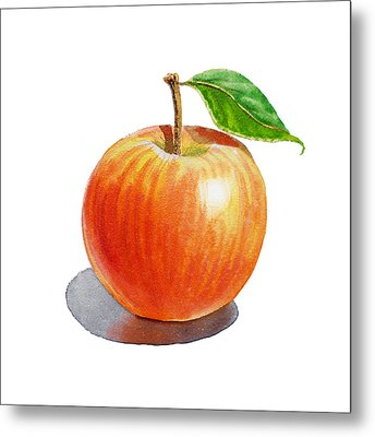 Red Apple Metal Print by Irina Sztukowski