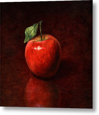 Apple Metal Print by Mark Zelmer