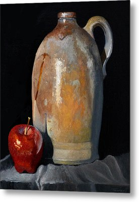 Apple Meets Crock Metal Print by Catherine Twomey