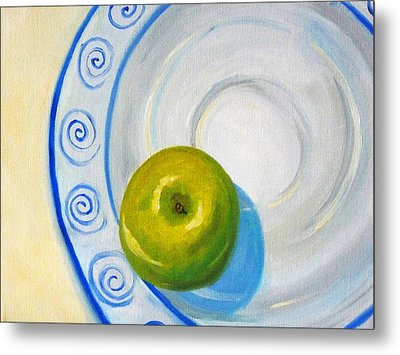 Apple Plate Metal Print by Nancy Merkle