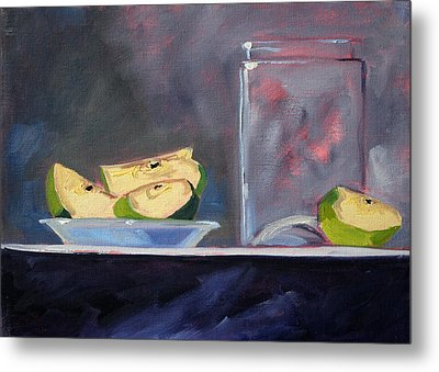 Apple Snack Metal Print by Nancy Merkle