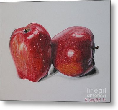 Apple Study Metal Print by Wil Golden