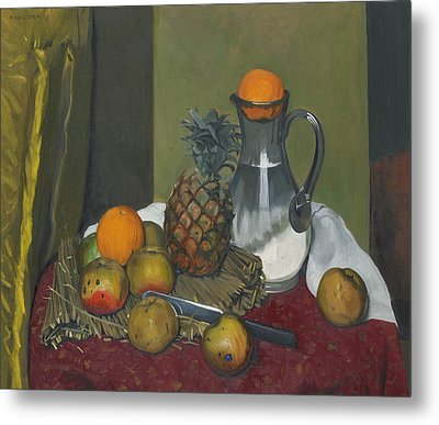 Apples And A Pineapple Metal Print