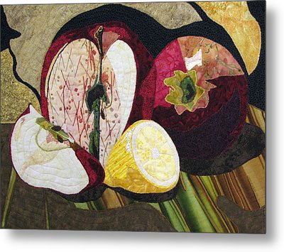 Apples And Lemon Metal Print by Lynda K Boardman