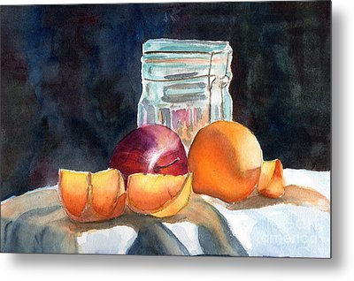 Apples And Oranges Metal Print by Mohamed Hirji