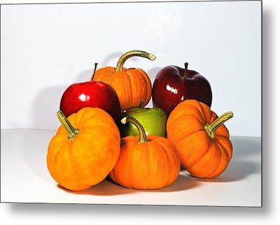 Apples And Pumpkins2 Metal Print