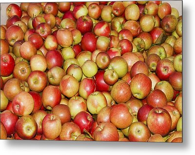 Apples For Sale At Farmers Market In Maine Metal Print by Keith Webber Jr