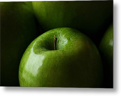 Metal Print featuring the photograph Apples Green by Lorenzo Cassina
