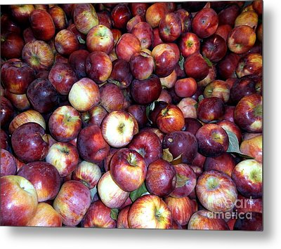 Apples Metal Print by Janine Riley