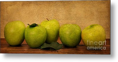 Apples Still Life Metal Print by Malu Couttolenc