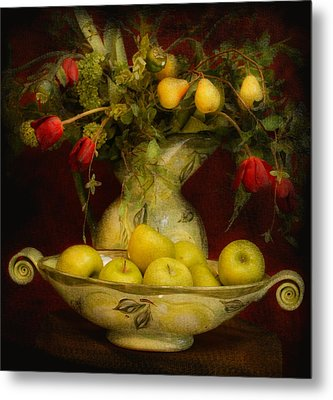 Apples Pears And Tulips Metal Print by Jeff Burgess