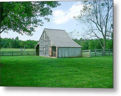 Appomattox Barn Metal Print by David Nichols