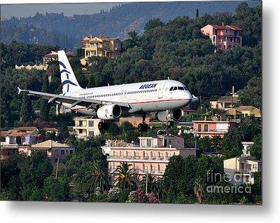 Approaching Corfu Airport Metal Print by George Atsametakis