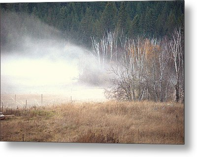 Metal Print featuring the photograph Approaching Mist by Michael Dohnalek
