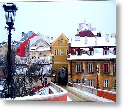 Approaching Old City Wall / Lublin Poland  Metal Print by Rick Todaro