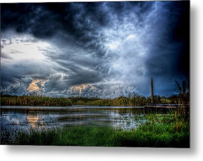 Approaching Storm Metal Print by Mark Andrew Thomas