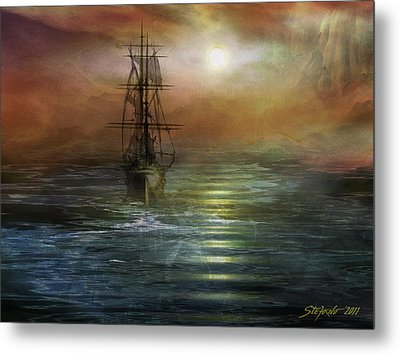 Approaching The New World Metal Print