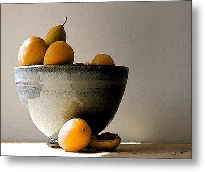 Apricot Bowl  Metal Print by Cole Black