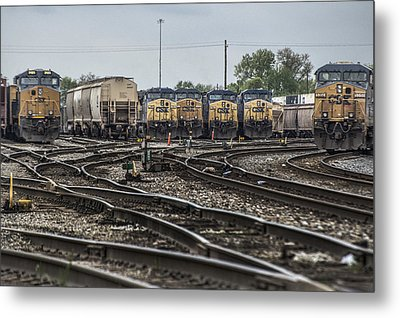 April 30 2014 - Csx Howell Yards Metal Print